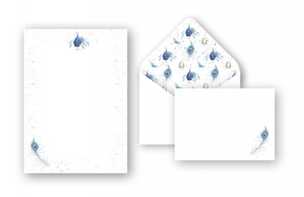 L005 Practically Perfect Peacock Letter Writing Set